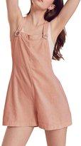HaoDuoYi Womens Bib Shortall Overall Sleeveless Casual Jumpsuit(M,)