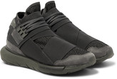 Y-3 - Qasa Suede-trimmed Mesh High-top Sneakers