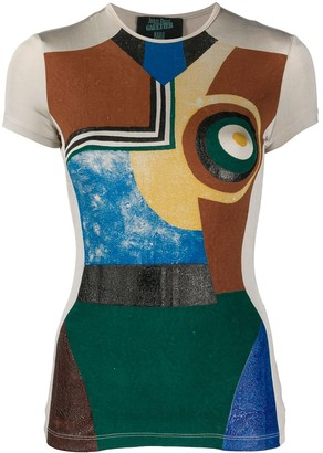 Jean Paul Gaultier Pre Owned 1990s abstract print T-shirt