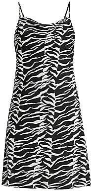 Rixo Women's Twiggy Tiger Print Silk Tank Dress