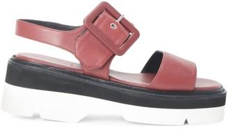Dries Van Noten Buckle Leather Platform Sport Sandals