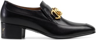 Gucci Men's leather Horsebit chain loafer
