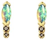 WWAKE Classic Marquise Opal and Diamond Earrings