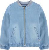 Catimini Embroidered chambray bomber jacket