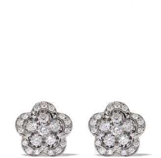 Pasquale Bruni 18kt white gold Figlia dei Fiori diamond stud earrings