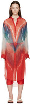 Baja East Multicolor Silk Tie-dye Blouse