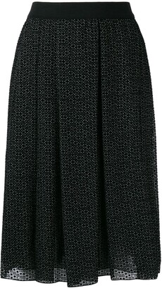 Giambattista Valli High-Waisted Print Skirt