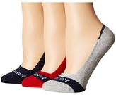 Sperry Signature Solid 3 Pack Women's No Show Socks Shoes