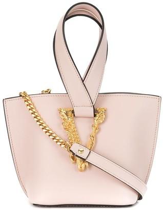 Versace Virtus logo plaque bucket bag
