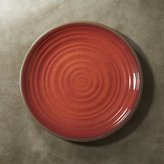 "Crate & Barrel Caprice Chili Red Melamine 10.5"" Dinner Plate"