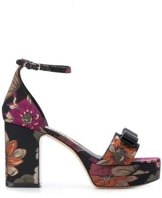 Salvatore Ferragamo vara bow floral sandals