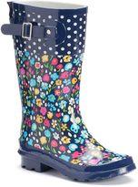 Western Chief Floral Fun Girls' Tall Waterproof Rain Boots