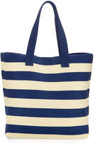 San Diego Hat Company Wide Striped Tote Bag, Blue