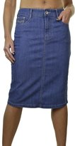 Ice 2534-1) Plus Size Stretch Denim Jeans Skirt Sequin Detail Mid