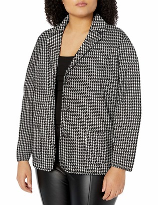 Chaps Women's Plus Size Cotton-Blend Sweater Blazer