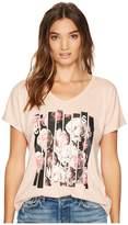 Converse Blocked Floral Type Femme Tee Women's T Shirt