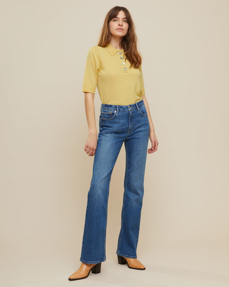 Jigsaw Cropped Merino Polo Top