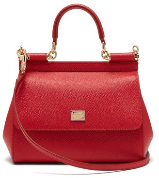 Dolce & Gabbana Sicily Small Leather Cross-body Bag - Red