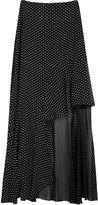 Rosetta Getty Black Ruffled Fil Coupé Maxi Skirt