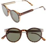 Spitfire Women's Post Punk 48Mm Round Mirrored Lens Sunglasses - Tortoise/ Black