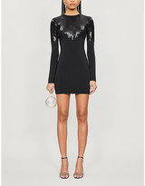 David Koma Sequin-embellished knitted mini dress