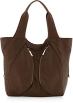Romeo & Juliet Couture R&J Handbags by Kyra Double Side-Pouch Zip Tote Bag, Bronze