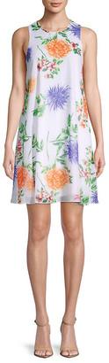Calvin Klein Floral-Print Mini Dress