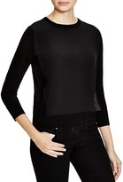 Magaschoni Silk and Cashmere Mesh Pullover