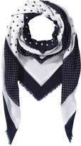 Joe Fresh Women's Geometric Print Scarf, JF Midnight Blue (Size O/S)