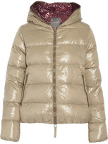 Duvetica Thia quilted shell down hooded coat