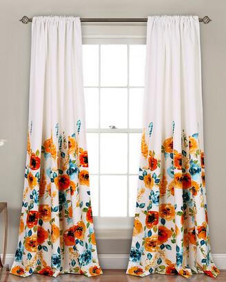 Triangle Home Fashion Percy Bloom Room Darkening Window Curtain