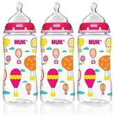 NUK Trendline Baby Talk 3 Pack Bottles Girls Color Silicone by