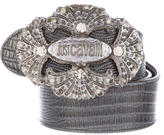 Just Cavalli Embellished Logo Belt