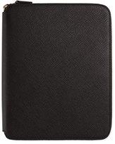 Smythson Panama A5 Zip Folder with Notebook, Black
