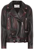 Acne Studios Merlyn 2 Tone leather jacket