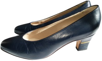 Bally Navy Leather Heels