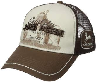 John Deere Quality Tractor Logo Baseball Hat - One-Size - Men's - Brown One Size