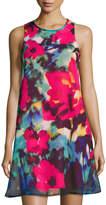 Chetta B Sleeveless Floral-Print Shift Dress, Multi