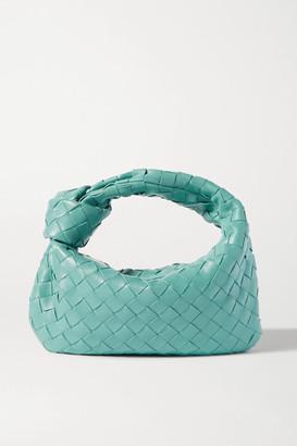 Bottega Veneta Jodie Mini Knotted Intrecciato Leather Tote - Blue