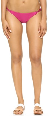 Vix Women's Solid Magenta Braid Bottom Full X-Small