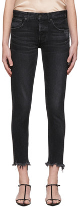 Moussy Black Staley Tapered Jeans