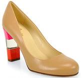 Kate Spade Leslie - Light Camel and Lipstick Pink Calf Leather Pump