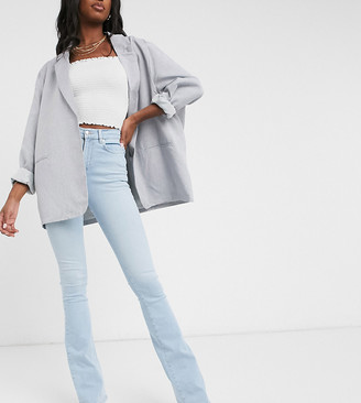 Asos Tall ASOS DESIGN Hourglass Tall 'Lift and Contour' flare jeans in lightwash blue