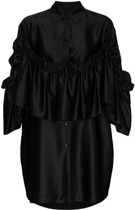 MM6 MAISON MARGIELA Ruffle-Detailing Mini Shirtdress