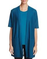 Eileen Fisher Petites Short Sleeve Open Cardigan