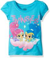 Nickelodeon Little Girls' Toddler Shimmer and Shine Twinsies Puff Short Sleeve T-Shirt