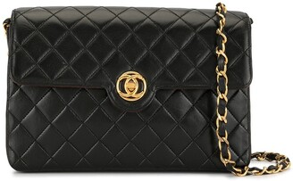 Chanel Pre Owned Diamond Quilted Chain Crossbody Bag