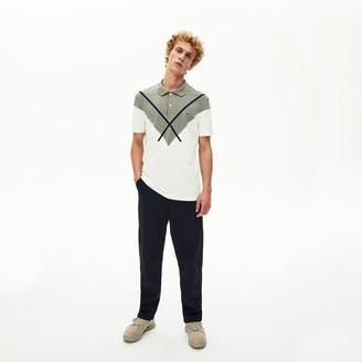 Lacoste Men's Made In France Jacquard Cotton Pique Polo Shirt