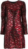 Aniye By long sleeve sequin mini dress