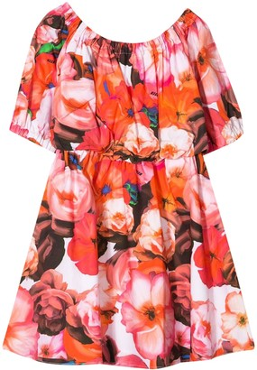 MSGM Kids Printed Flower Dress